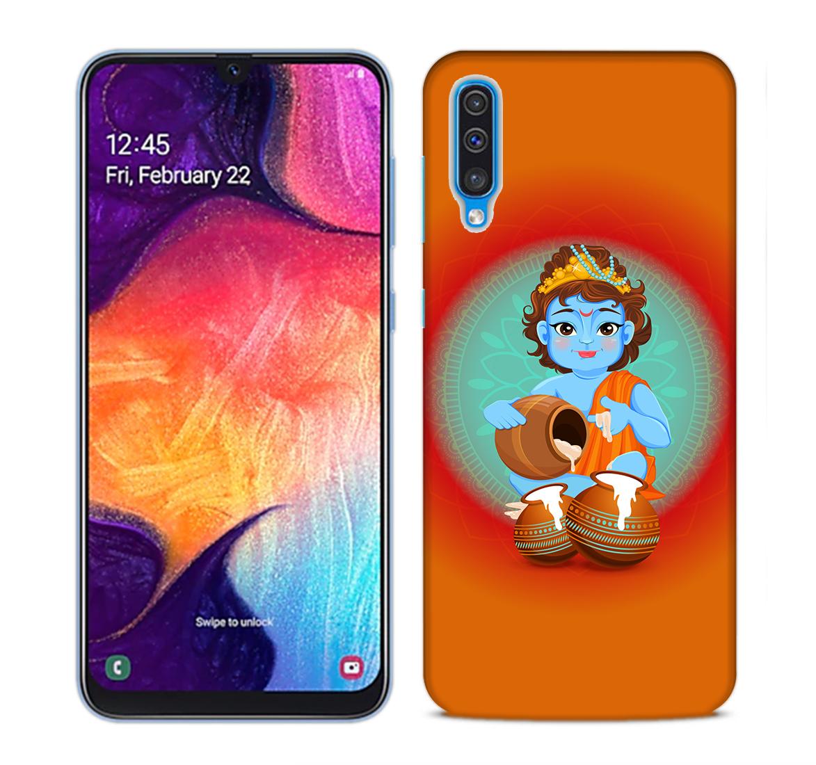 Kisna Makhanchor Orange Mobile Phone Back Cover for Samsung Galaxy A50