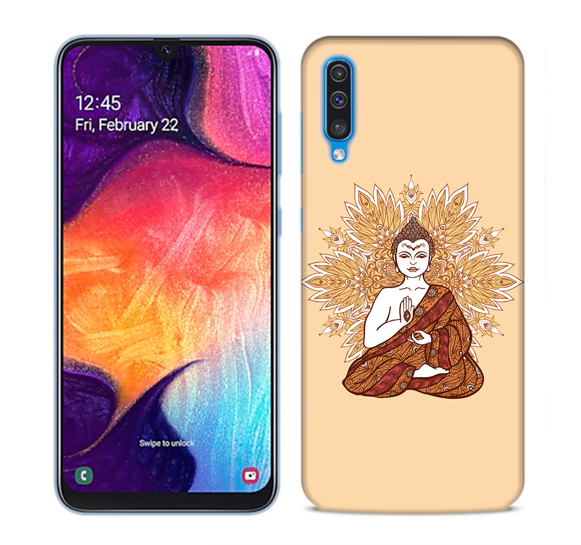Meditating Budhha Mobile Phone Back Cover for Samsung Galaxy A50