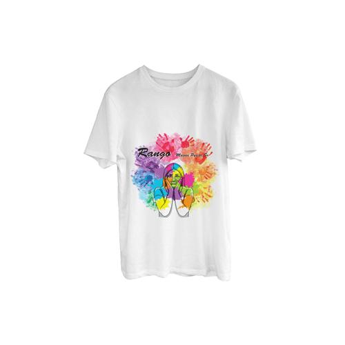 "Holi Special ""Rango Magar Pyaar Se"" Printed T-Shirt"