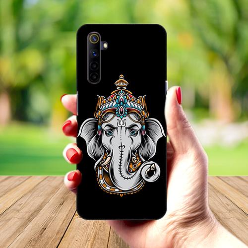 Ganesha Dark Mobile Phone Back Cover for Realme 6