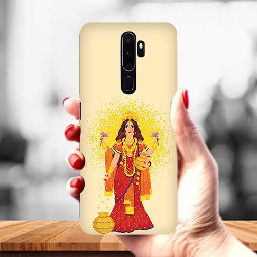 Maa Laxmi Mobile Phone Back Cover for Oppo A9