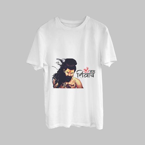 Om Numha Shivaya Potrait Print T-Shirt