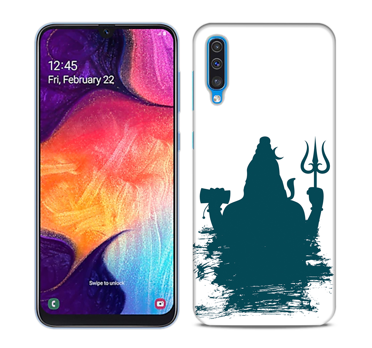 Shiva Blue Shadow Mobile Phone Back Cover for Samsung Galaxy A50