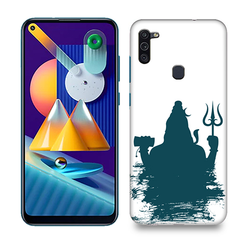 Shiva Blue Shadow Mobile Phone Back Cover for Samsung Galaxy M11