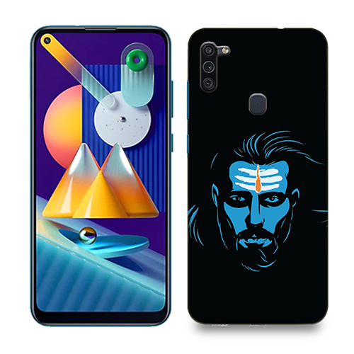Mahadev Blue Mobile Phone Back Cover for Samsung Galaxy M11