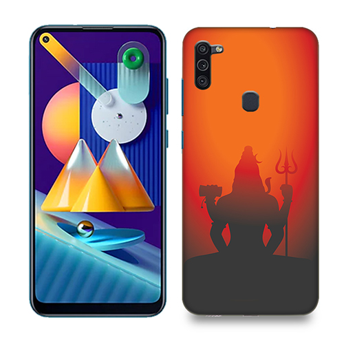 Mahadev Shadow in Sunset Mobile Phone Back Cover for Samsung Galaxy M11
