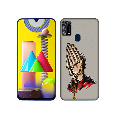 Cross Prayer Mobile Phone Back Cover for Samsung Galaxy M31