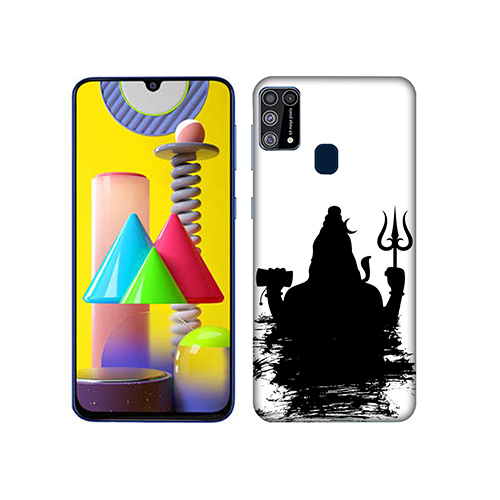 Shiva in Dark Mode Mobile Phone Back Cover for Samsung Galaxy M31