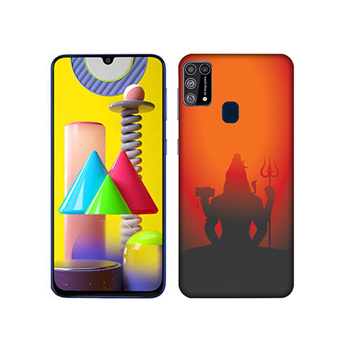 Mahadev Shadow in Sunset Mobile Phone Back Cover for Samsung Galaxy M31
