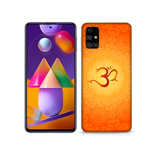 OM Printed Mobile Phone Back Cover for Samsung Galaxy M31s