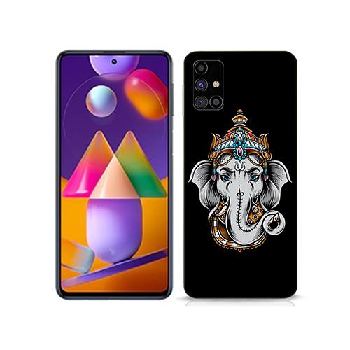 Ganesha Dark Mode Mobile Phone Back Cover for Samsung Galaxy m31