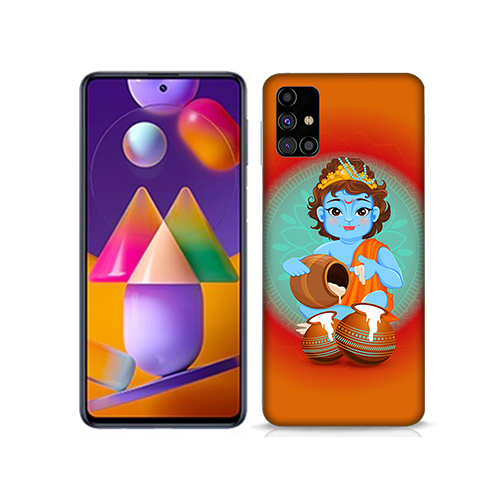Kisna Makhanchor Orange Mobile Phone Back Cover for Samsung Galaxy M31s