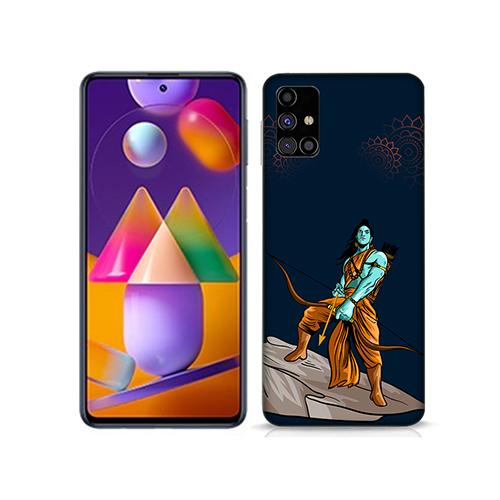 Dhanurdhari Ram Dark Mobile Phone Back Cover for Samsung Galaxy M31s