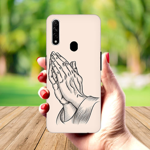 Prayer Sketch Mobile Phone Cover for Oppo A31