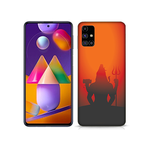 Mahadev Shadow in Sunset Mobile Phone Back Cover for Samsung Galaxy M31s