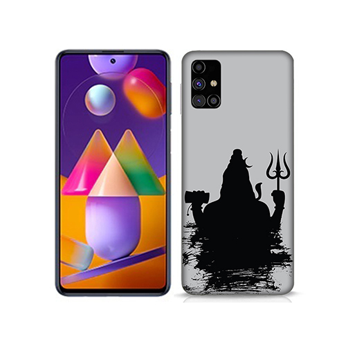 Shiva Dark Shadow Mobile Phone Back Cover for Samsung Galaxy M31s
