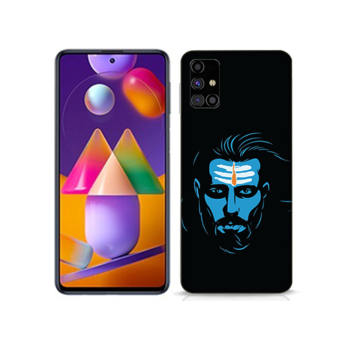 Mahadev Blue Mobile Phone Back Cover for Samsung Galaxy M31s