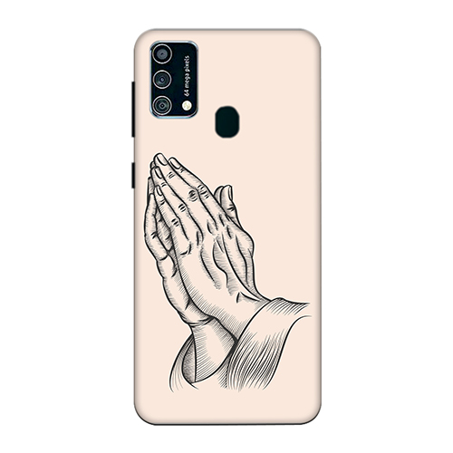 Prayer Sketch Mobile Phone Back Cover for Samsung Galaxy F41