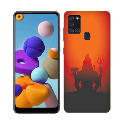 Mahadev Shadow in Sunset Mobile Phone Back Cover for Realme 7i