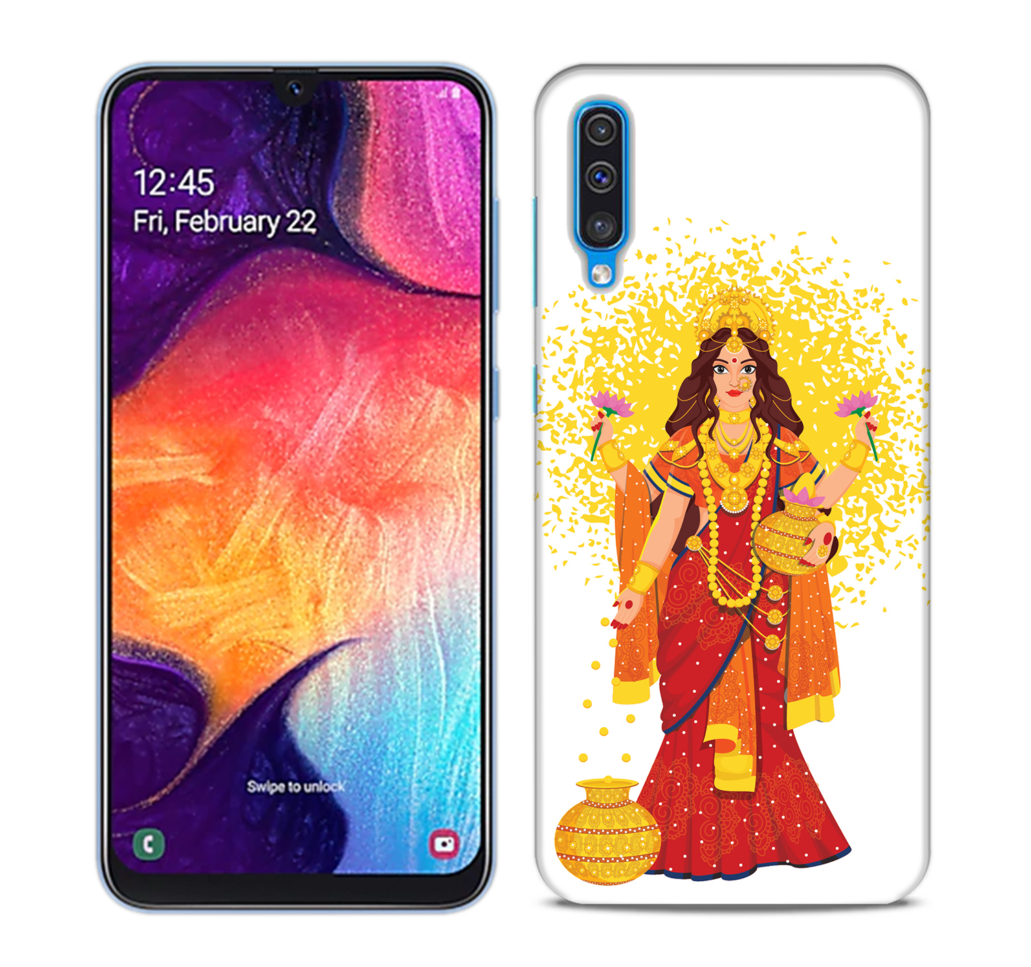 Maa Laxmi Mobile Phone Back Cover for Samsung Galaxy A50