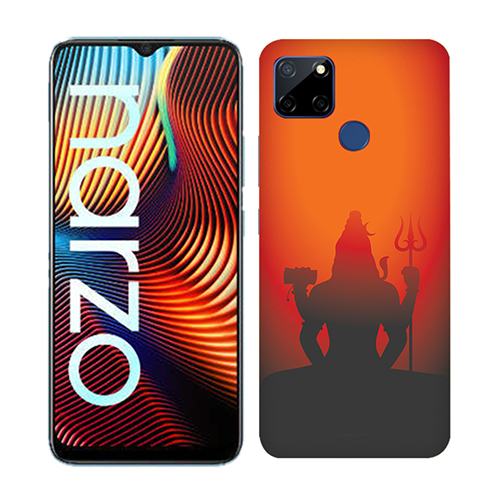 Mahadev Shadow in Sunset Mobile Phone Back Cover for Realme Narzo 20