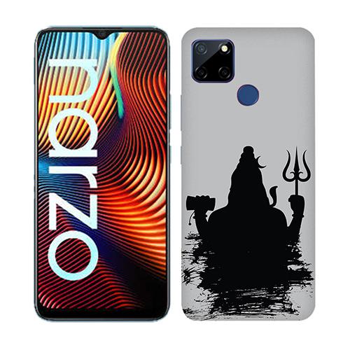 Mahadev Black Shadow Mobile Phone Back Cover for Realme Narzo 20