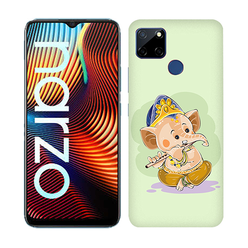 Nanhe Ganesha Mobile Phone Back Cover for Realme Narzo 20