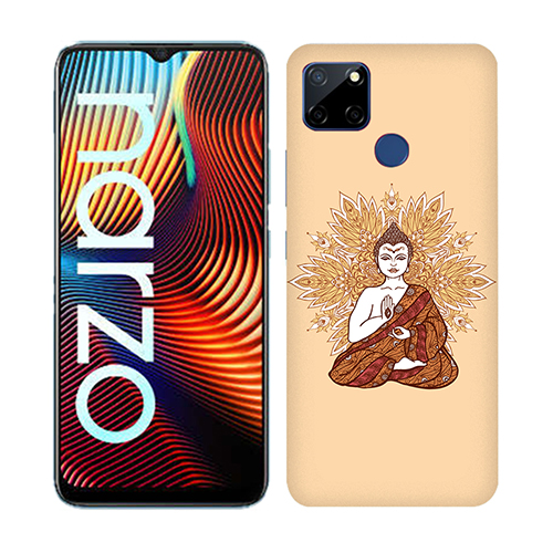 Meditating Buddha Mobile Phone Back Cover for Realme Narzo 20
