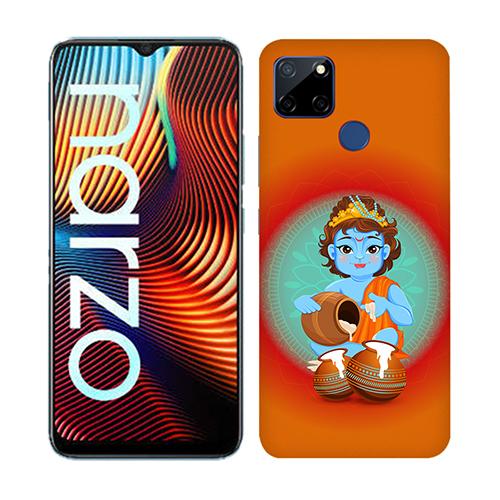 Krishna Makhanchor Orange Mobile Phone Back Cover for Realme Narzo 20