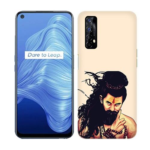 Bearded Mahadev Mobile Phone Back Cover for Realme 7
