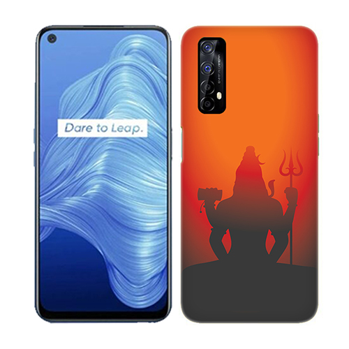 Mahadev Shadow in Sunset Mobile Phone Back Cover for Realme 7
