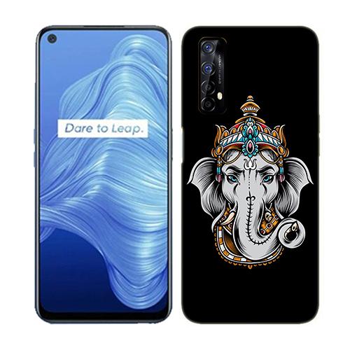 Ganesha Dark Phone Back Cover for Realme 7