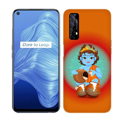 Kisna Makhanchor Orange Mobile Phone Back Cover for Realme 7