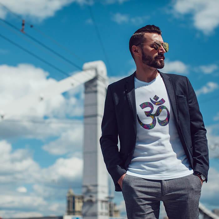 Best Design OM round neck t shirt for men