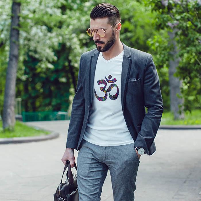 Best Design OM white t shirt for men