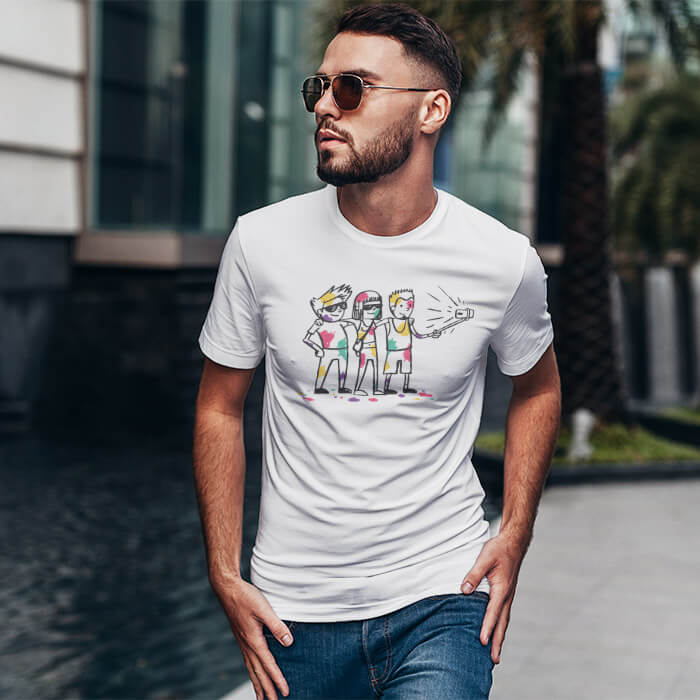 Holi Cartoon best t shirt for men