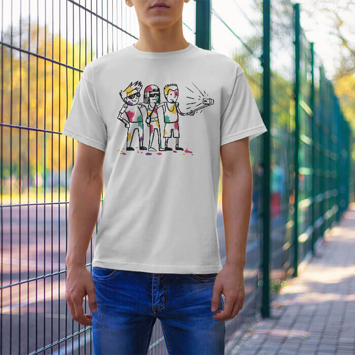 Holi Cartoon t-shirt for men