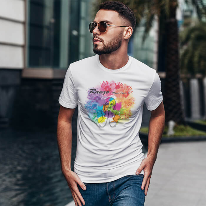 Holi Quotes round neck t shirt for men