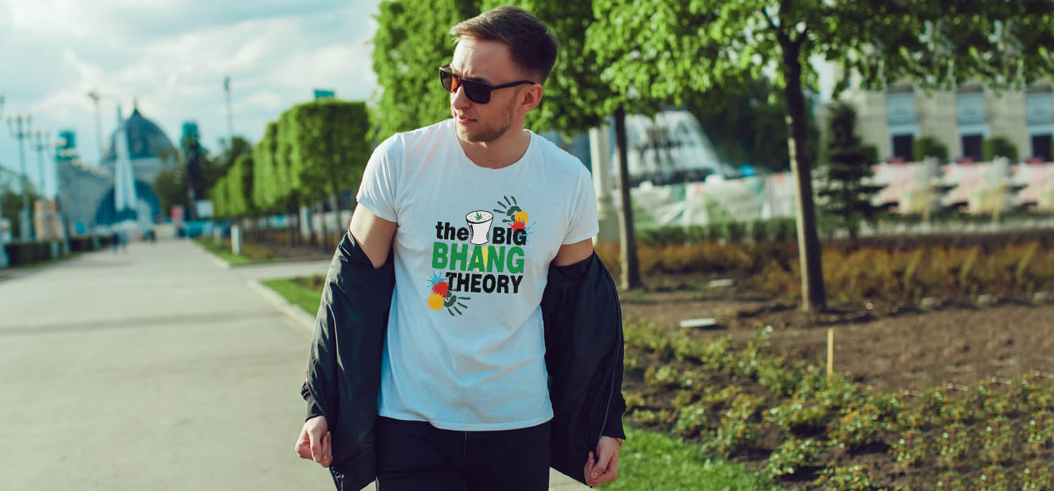Holi Special Bhang Theory best t shirt for men