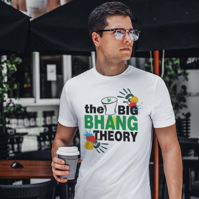 Holi Special Bhang Theory men t shirt