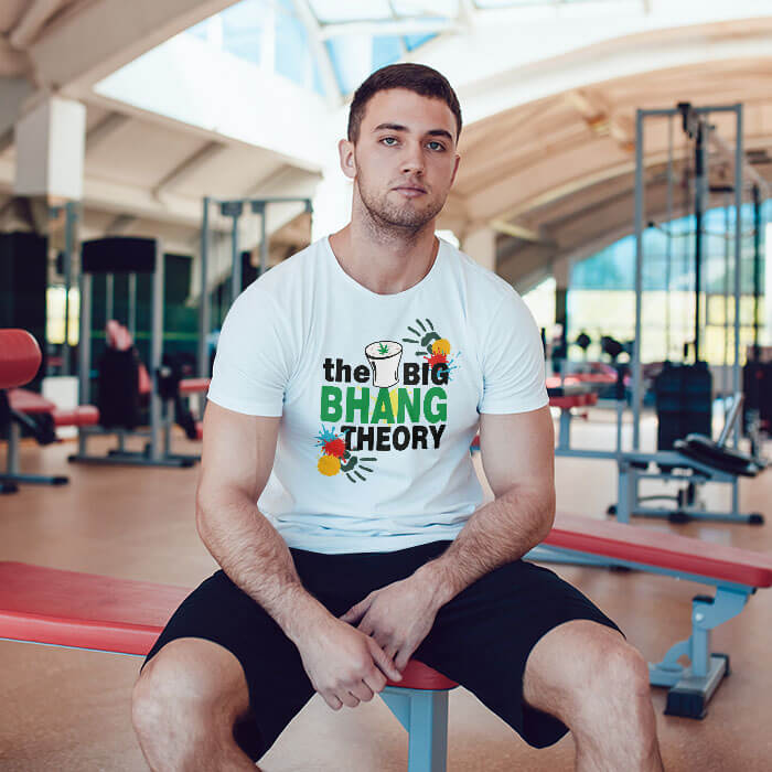 Holi Special Bhang Theory round neck t shirt for men