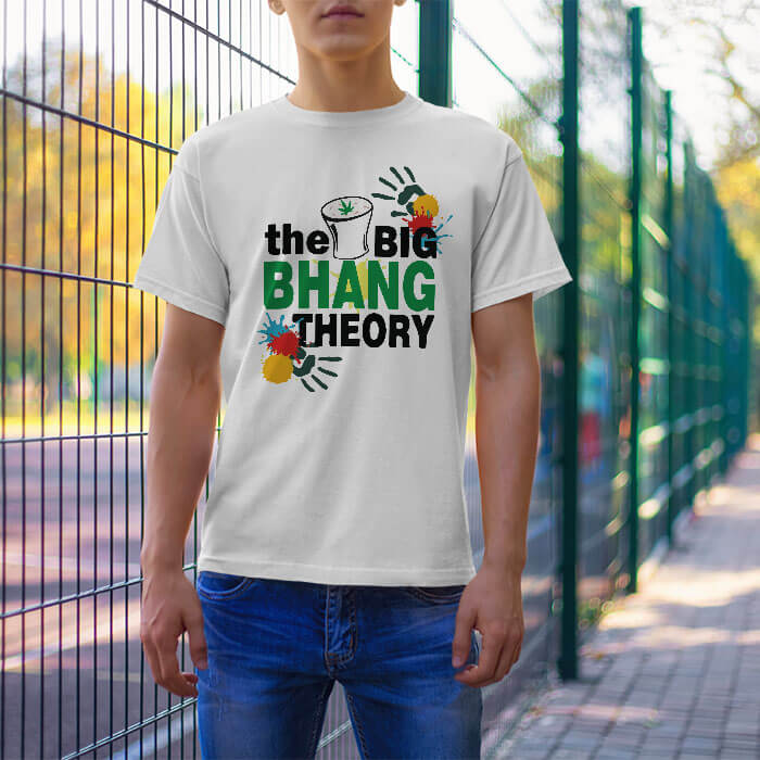 Holi Special Bhang Theory t-shirt for men