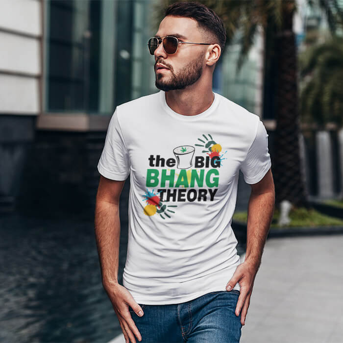 Holi Special Bhang Theory t shirt for men