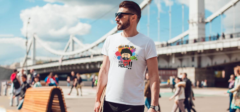 Holi Special Gabbar best t shirt for men