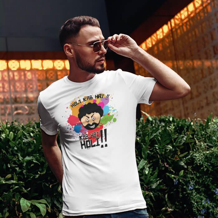 Holi Special Gabbar men t-shirt