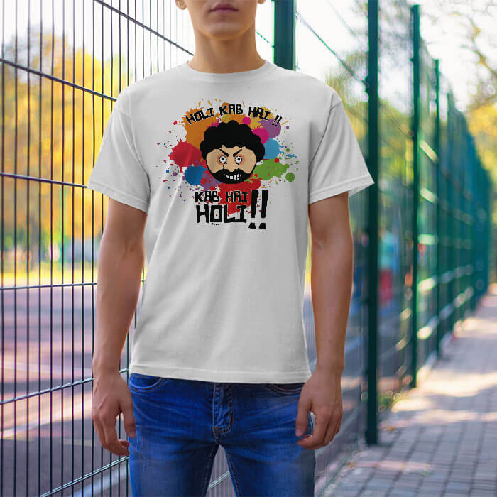 Holi Special Gabbar t-shirt for men