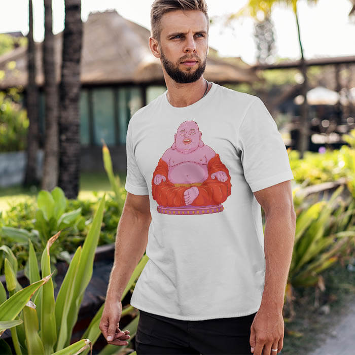 Laughing Buddha t-shirt for men