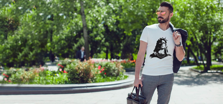 Lord Shiva Black Shadow Printed T Shirt