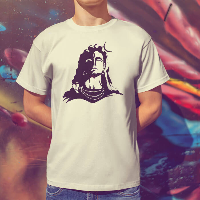 Lord Shiva Black Shadow round neck t shirt for men