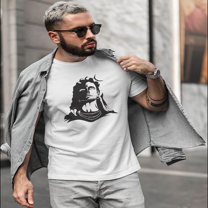 Lord Shiva Black Shadow t shirt for men